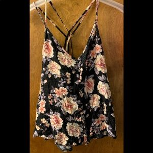 Flora tank top with buttons